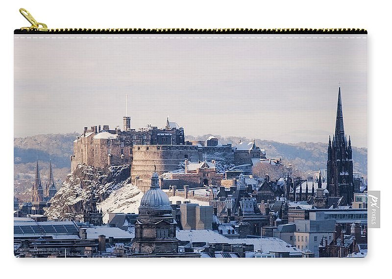 Snow Carry-all Pouch featuring the photograph Edinburgh Castle by Davidhills