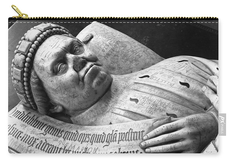 Effigy Of Duc Jean De Berry Count Of Poitiers Carry-all Pouch featuring the photograph Effigy Of Duc Jean De Berry Count Of Poitiers, Detail by Jean De Cambrai