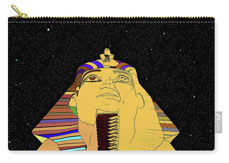 Egypt Land Of The Pharaohs Carry-all Pouch featuring the photograph Egyptian Night Travel Poster A by David Lee Thompson