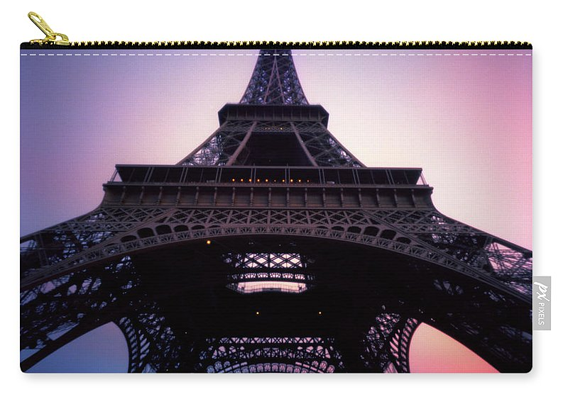 Arch Carry-all Pouch featuring the photograph Eiffel Tower At Sunset by Zeb Andrews