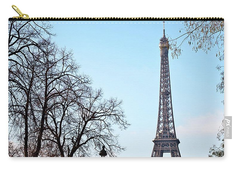 Built Structure Carry-all Pouch featuring the photograph Eiffel Tower In Paris by Tuan Tran
