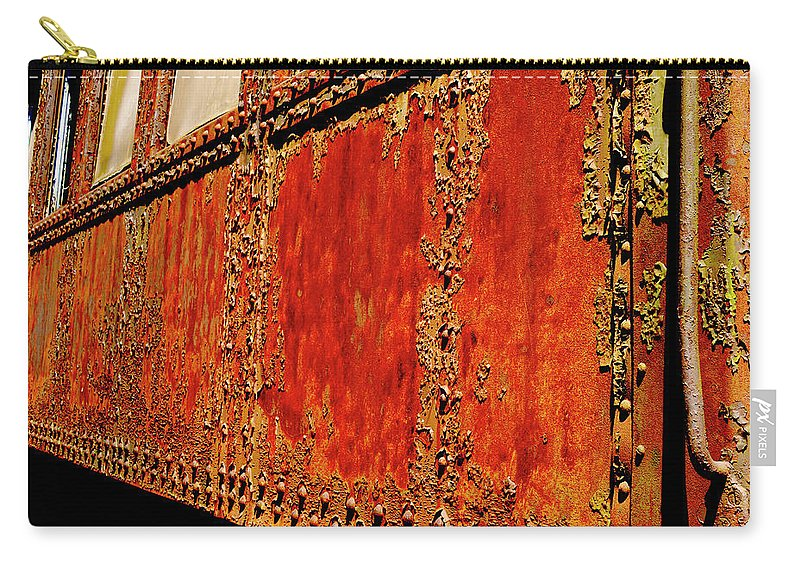 Weathered Railroad Car Carry-all Pouch featuring the photograph Elegant Rust Number 2 by Paul W Faust - Impressions of Light
