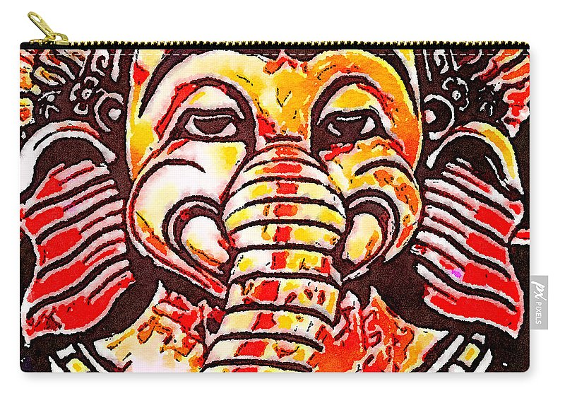 Elephant Carry-all Pouch featuring the photograph Elephant Face by Modern Art