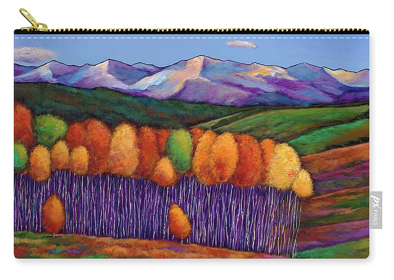 Aspen Trees Carry-all Pouch featuring the painting Elysian by Johnathan Harris