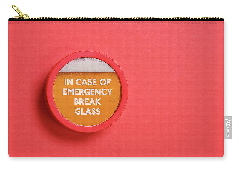 Coral Colored Carry-all Pouch featuring the photograph Emergency Beer by Andrew Paterson