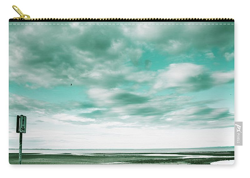 Beach Carry-all Pouch featuring the photograph Empty Beach Bench by Jorgo Photography - Wall Art Gallery