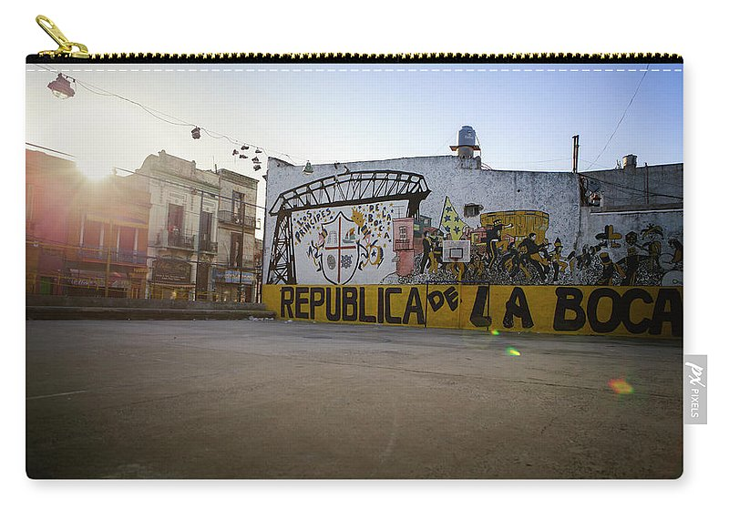 Empty Carry-all Pouch featuring the photograph Empty Soccer Field In La Boca by Just One Film