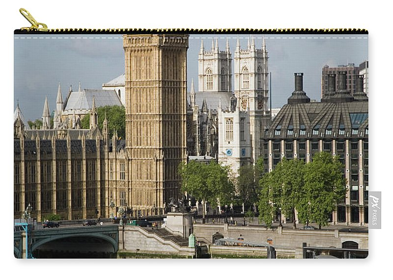 England Carry-all Pouch featuring the photograph England, London, Big Ben And Thames by Jerry Driendl