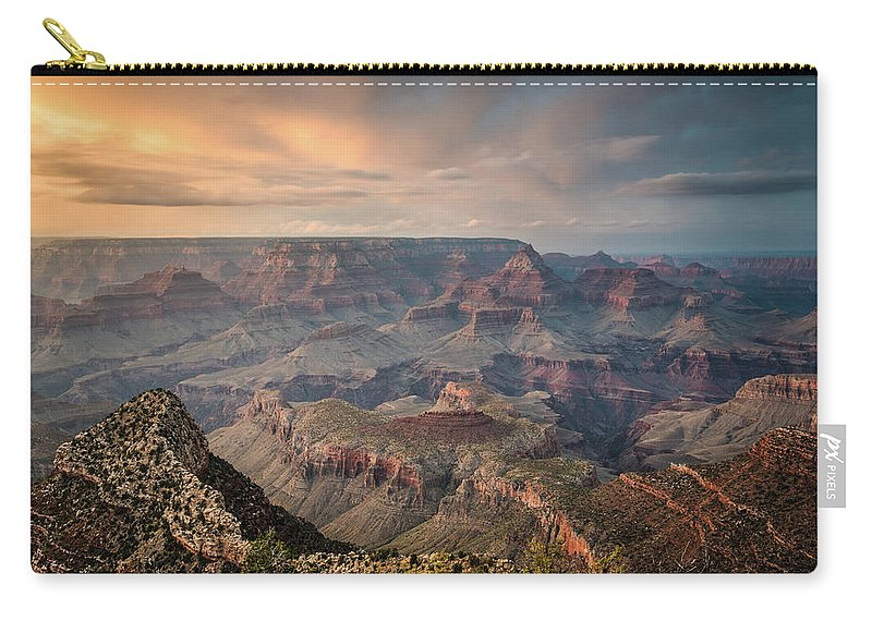 Majestic Carry-all Pouch featuring the photograph Epic Sunset Over Grand Canyon South Rim by Wayfarerlife Photography