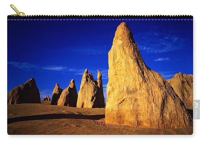 Toughness Carry-all Pouch featuring the photograph Eroded Rock Formations, Pinnacles by John Banagan