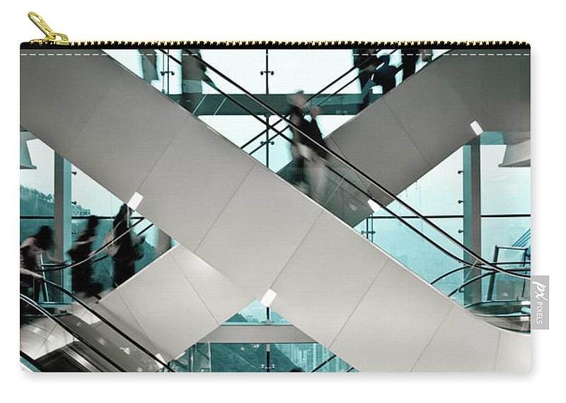 People Carry-all Pouch featuring the photograph Escalator by Ymgerman