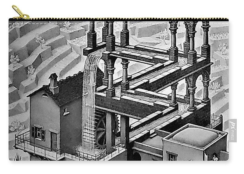 Maurits Cornelis Escher Carry-all Pouch featuring the photograph Escher 128 by Rob Hans
