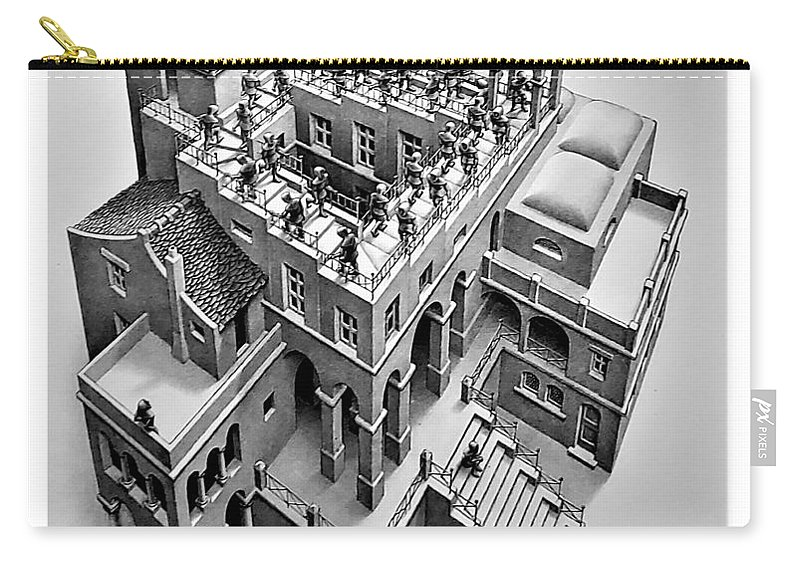 Maurits Cornelis Escher Carry-all Pouch featuring the photograph Escher 129 by Rob Hans
