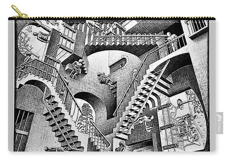 Maurits Cornelis Escher Carry-all Pouch featuring the photograph Escher 131 by Rob Hans