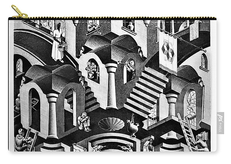 Maurits Cornelis Escher Carry-all Pouch featuring the photograph Escher 135 by Rob Hans