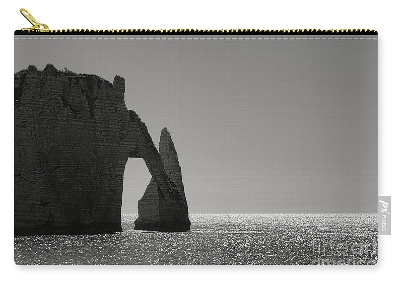 Etretat Carry-all Pouch featuring the photograph Etretat by Olivier Le Queinec