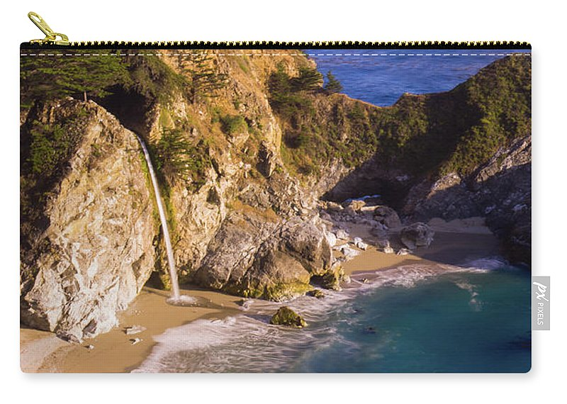 Tranquility Carry-all Pouch featuring the photograph Evening At Mcway Falls by By Sathish Jothikumar