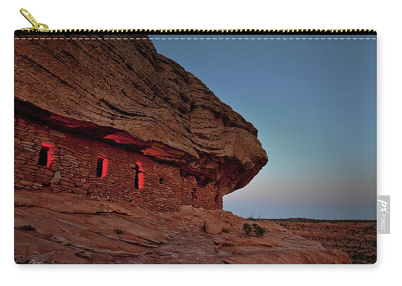 Tranquility Carry-all Pouch featuring the photograph Evening At The Citadel by Doorways To The Past