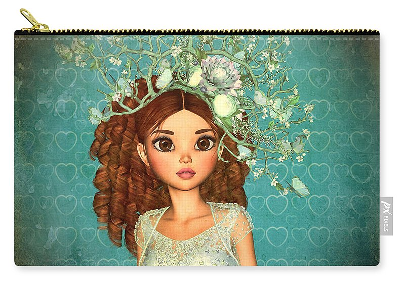 Evening-out-my-deanna Carry-all Pouch featuring the digital art Evening Out My Deanna by Dkate Smith