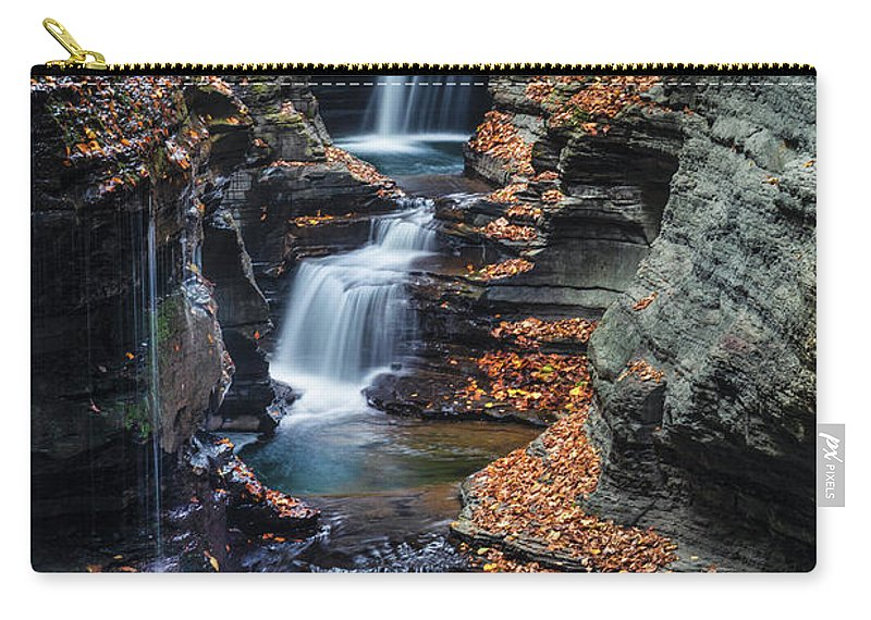 Kremsdorf Carry-all Pouch featuring the photograph Every Teardrop Is A Waterfall by Evelina Kremsdorf