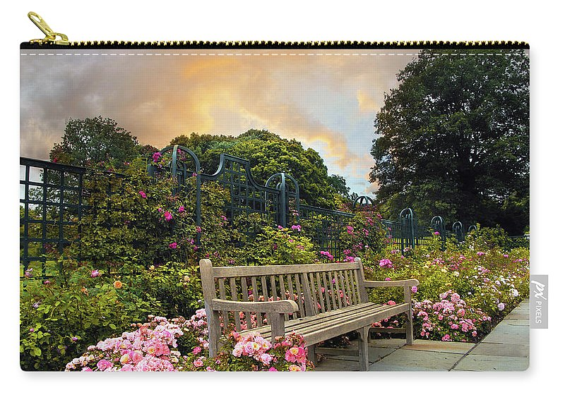 Rose Garden Carry-all Pouch featuring the photograph Rose Repose by Jessica Jenney