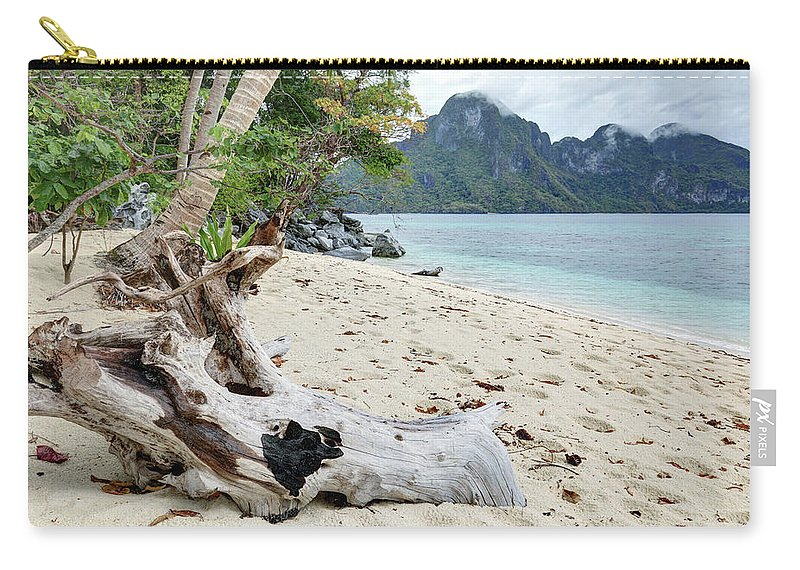 Water's Edge Carry-all Pouch featuring the photograph Exotic Beach by Vuk8691