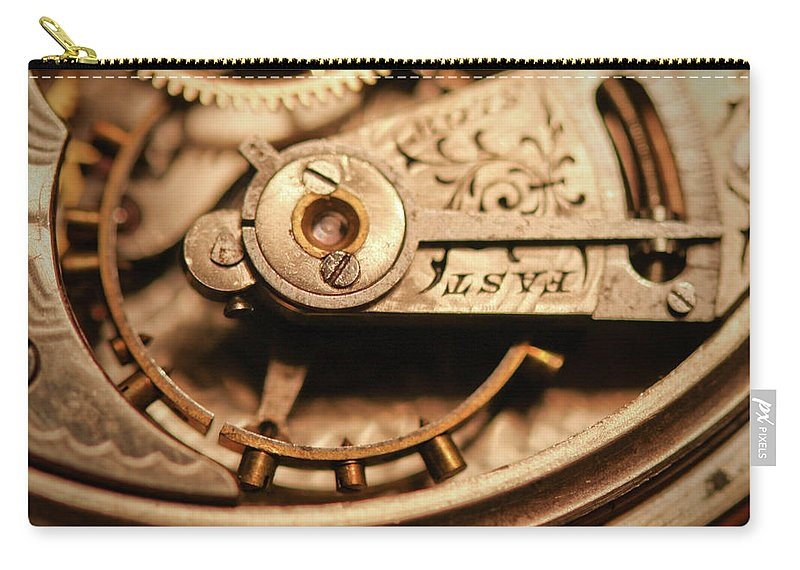 Michigan Carry-all Pouch featuring the photograph Exposing The Inner Workings And Gears by Rudy Malmquist