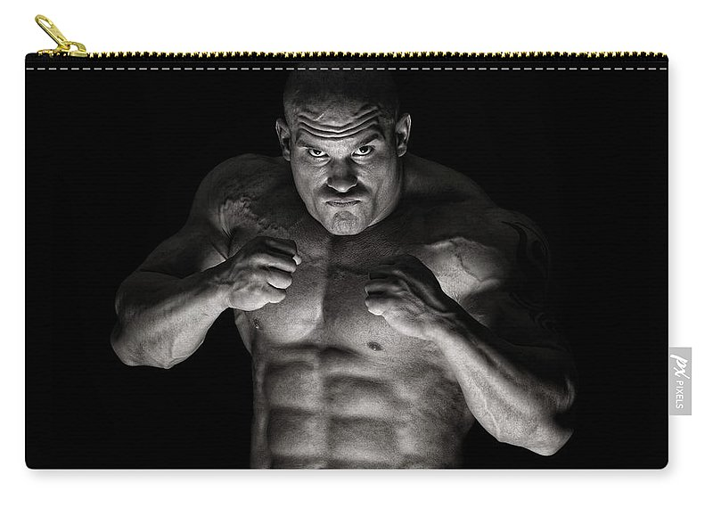 Toughness Carry-all Pouch featuring the photograph Extreme Guy by Vuk8691