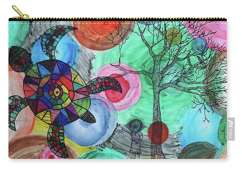 Carry-all Pouch featuring the painting Eye See You by Benjamin Talbot