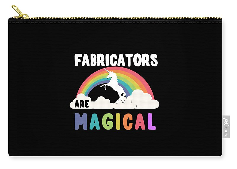 Unicorn Carry-all Pouch featuring the digital art Fabricators Are Magical by Flippin Sweet Gear