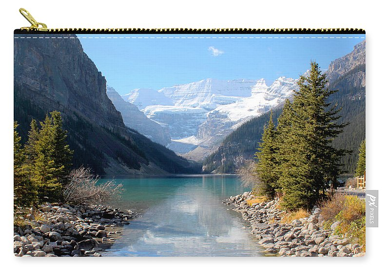 Tranquility Carry-all Pouch featuring the photograph Fall At Lake Louise , Alberta, Canada by Cynthia Russell Photography