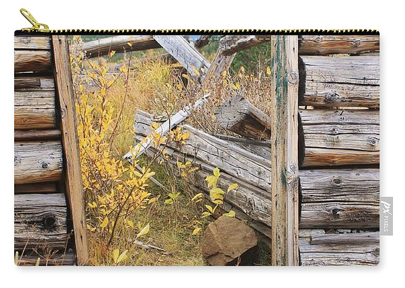 Nature Carry-all Pouch featuring the photograph Fall Door 2 by Tonya Hance