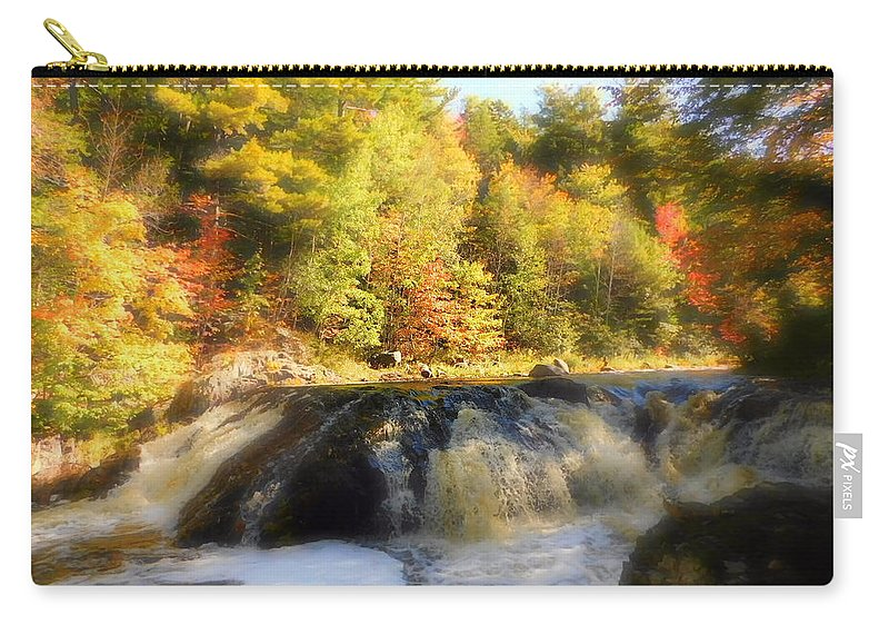 Fall Fantasy Carry-all Pouch featuring the photograph Fall Fantasy by Karen Cook