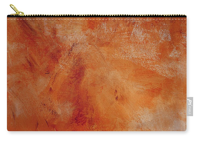 Abstract Carry-all Pouch featuring the painting Fall Golden Hour- Abstract Art By Linda Woods by Linda Woods