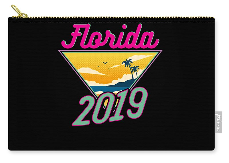 Family Carry-all Pouch featuring the drawing Family Vacation 2019 Florida by Kanig Designs