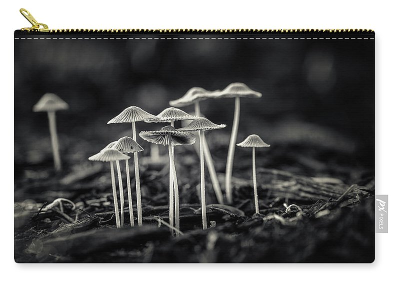 Art Carry-all Pouch featuring the photograph Fanciful Fungus-2 by Tom Mc Nemar