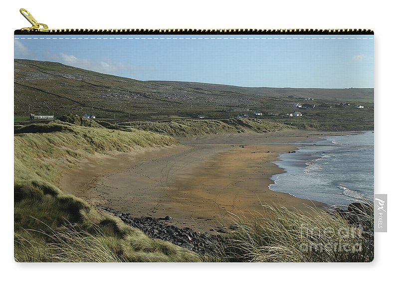 Burren Clare Wildatlanticway Ireland Photography Travel Seascape Landscape Prints Pskeltonphoto Carry-all Pouch featuring the photograph Fanore Beach The Burren by Peter Skelton