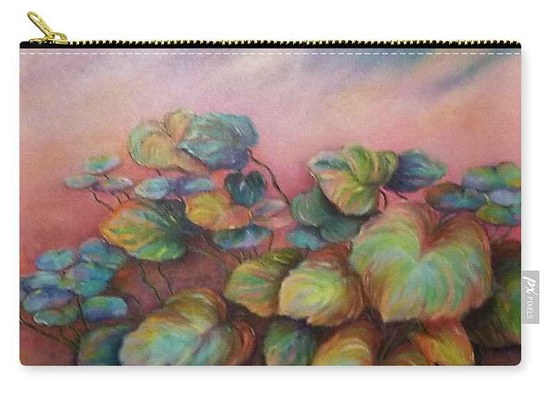 Floral Carry-all Pouch featuring the painting Fantasy by Jeannine Paul