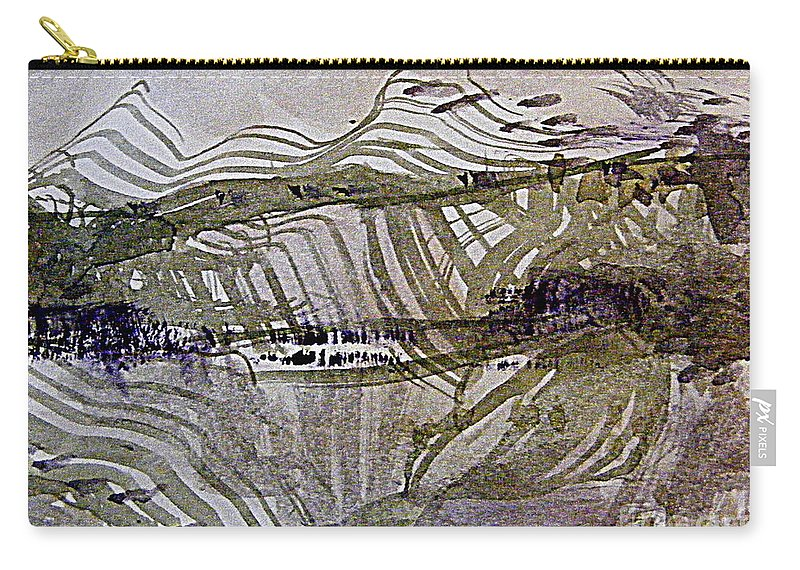 Abstract Surreal Landscape Carry-all Pouch featuring the digital art Fantasy Mountain by Nancy Kane Chapman