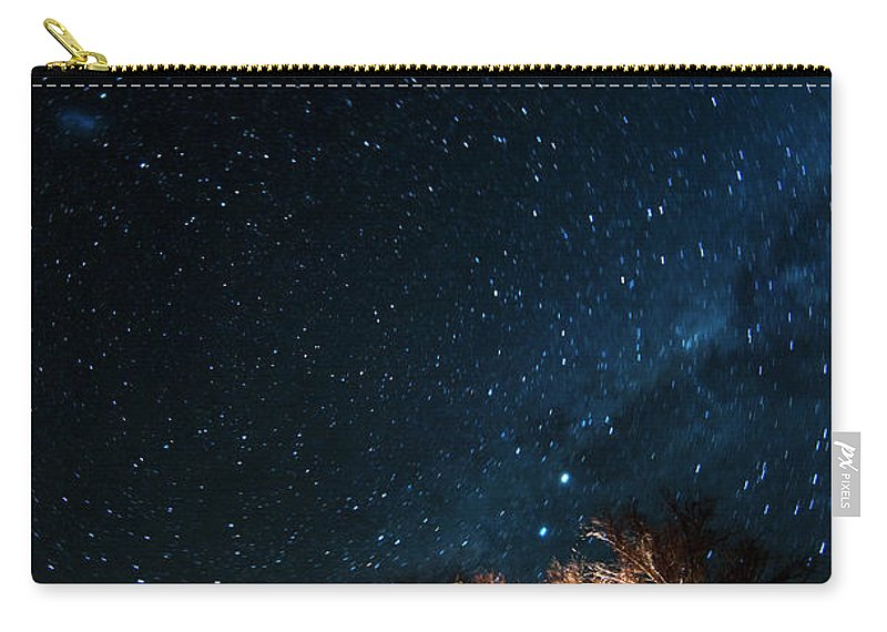 Northern Cape Province Carry-all Pouch featuring the photograph Farm House And Milky Way by Subman