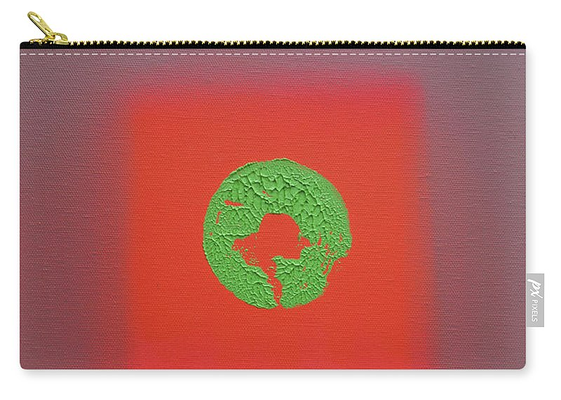 Red Carry-all Pouch featuring the painting Fauve Pacific by Charles Stuart