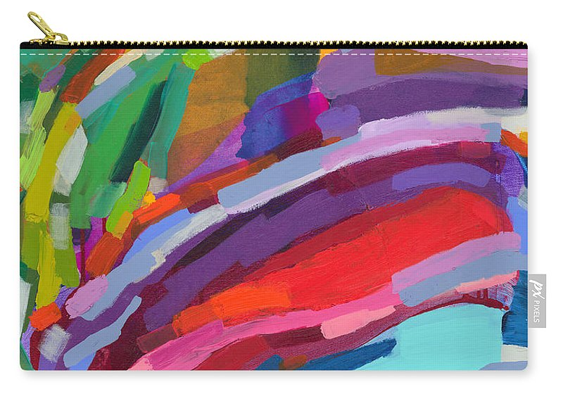 Abstract Carry-all Pouch featuring the painting Felicity by Claire Desjardins