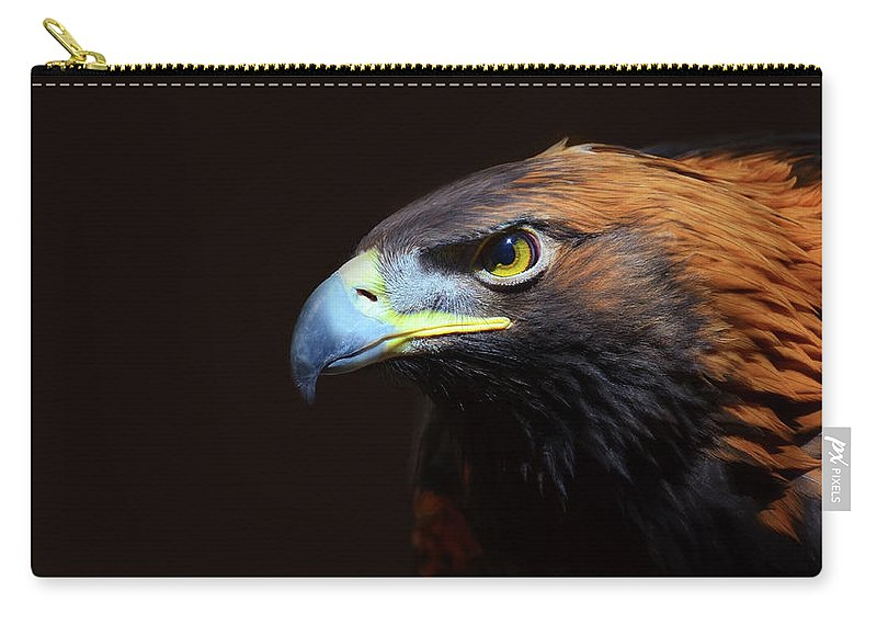 Animal Themes Carry-all Pouch featuring the photograph Female Golden Eagle by A L Christensen