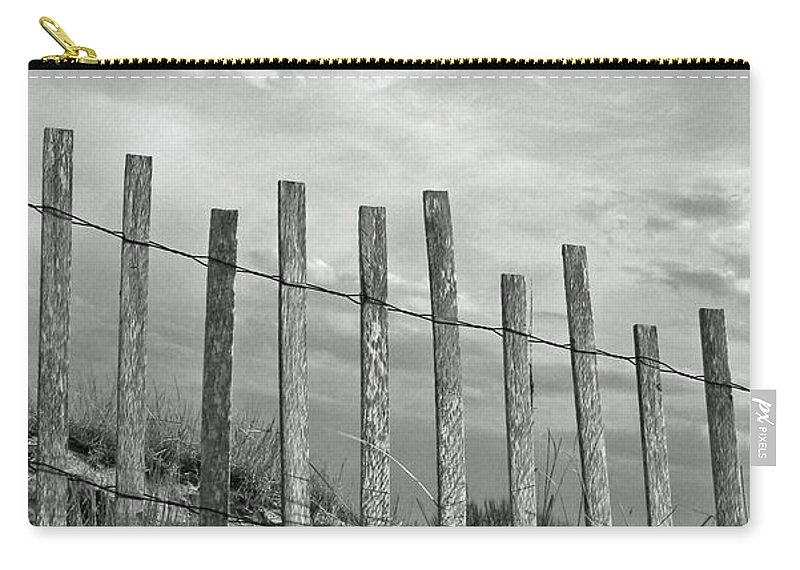 Tranquility Carry-all Pouch featuring the photograph Fence At Jones Beach State Park. New by Gary Koutsoubis