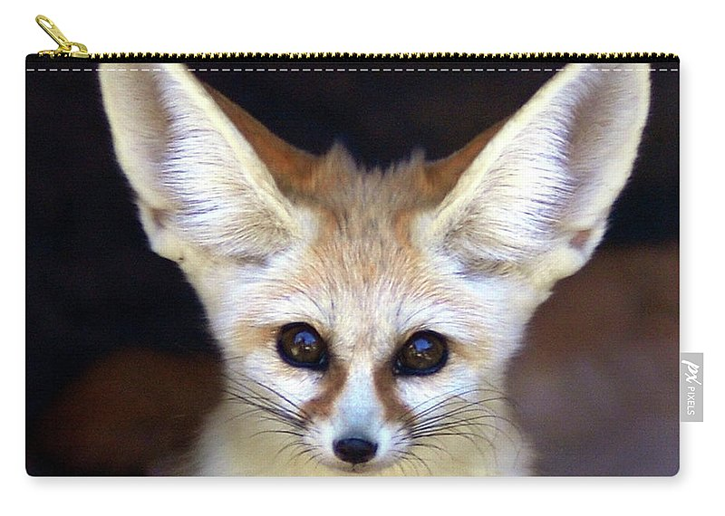 Alertness Carry-all Pouch featuring the photograph Fennec Fox by Floridapfe From S.korea Kim In Cherl