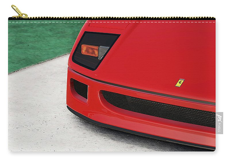 Ferrari Carry-all Pouch featuring the photograph Ferrari F40 - 09 by Andrea Mazzocchetti