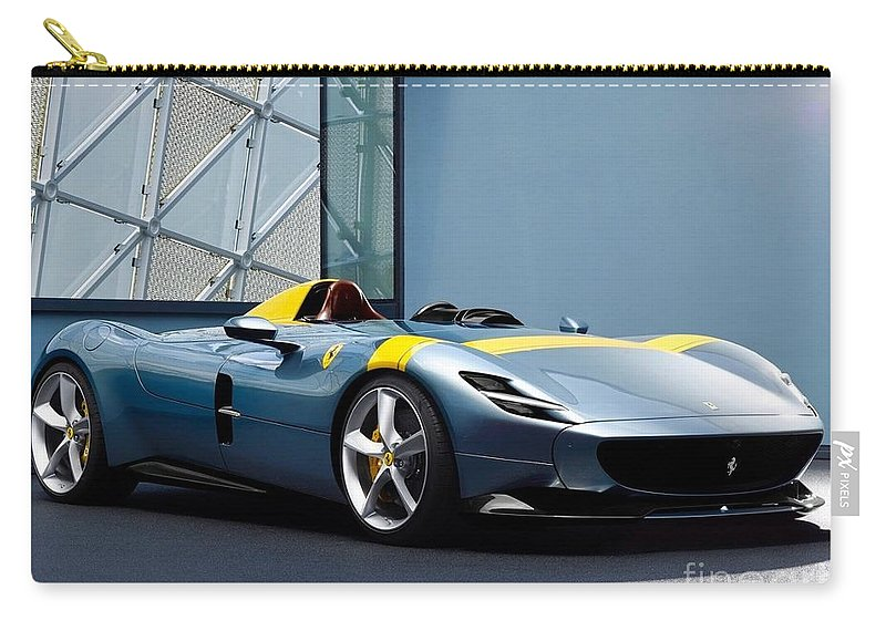 Automotive Carry-all Pouch featuring the photograph Ferrari Monza Sp1 by EliteBrands Co