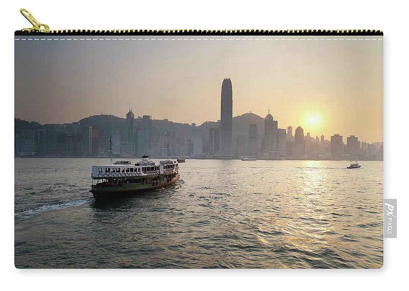Chinese Culture Carry-all Pouch featuring the photograph Ferry Boat To Hong Kong by Simonbradfield