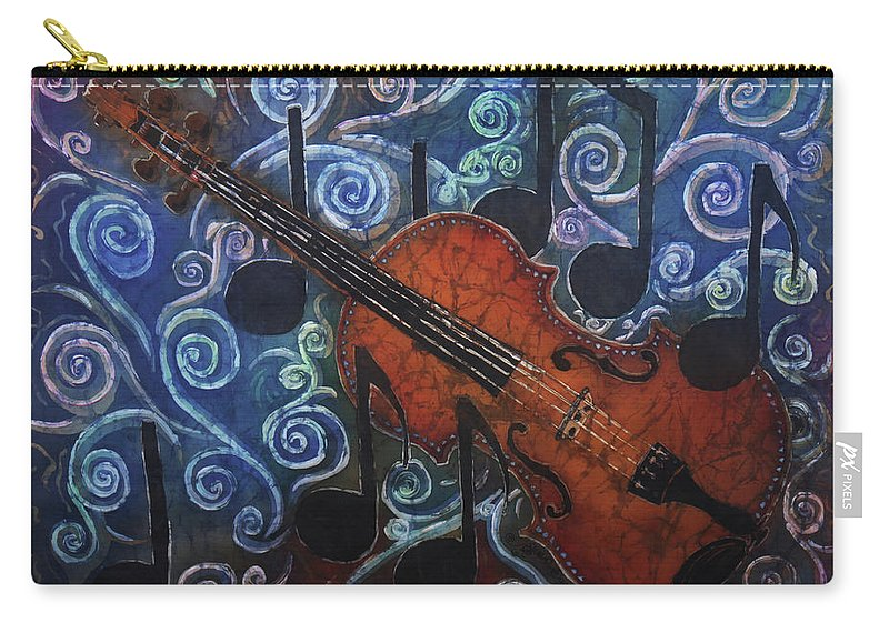 Fiddle Carry-all Pouch featuring the painting Fiddle 1 by Sue Duda