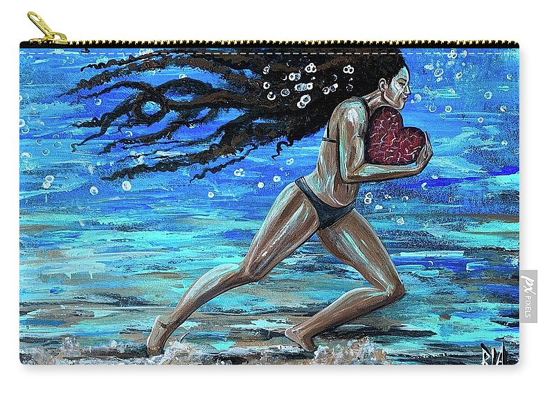 Runner Carry-all Pouch featuring the painting Fight the fine fight of the faith by Artist RiA